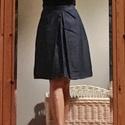 Farmer szoknya, Táska, Divat & Szépség, Ruha, divat, Női ruha, Szoknya, Jól kihasználható A vonalú farmer szoknya. Elöl redőzött. Oldalán húzózárral.  A képen 36-os méretű ..., Meska