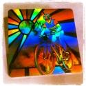 igliceszivem részére - BICIKLIS kitűző bringásoknak , Ékszer, Bross, kitűző, Biciklis hologram kitűző pólóra, táskára vagy bárhova ;) Bicikliseknek alap darab ez a kocka ..., Meska