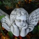 Antik Raffaello angyal, Szobrászati gipszből készült, antikolt angyal....