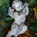 Antik, barokk, muzsikáló angyal, Dekoráció, Mindenmás, Otthon, lakberendezés, Vallási tárgyak, Barokk, muzsikáló angyal szobrászati gipszből, antikolva. Falra akasztható, de jól használható egyéb..., Meska