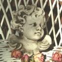 Botticelli angyalfej, Dekoráció, Mindenmás, Otthon, lakberendezés, Vallási tárgyak, Botticelli angyalfej  Szobrászati gipszből készült, antikolt angyal, hátulján akasztóval. Mérete: 13..., Meska
