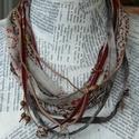 Bohém16, Ékszer, Nyaklánc, A nyakéket változatos textil szalagok , gyöngyfüzér, bőrszíj , bársonyszalag, zsinór össze..., Meska