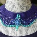 Kék laguna, Ékszer, Nyaklánc,  A nevét azért kapta, mert a sokféle kék színű gyöngy és féldrágakő apró felületekben elszórva idézi..., Meska