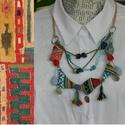 Azték, Ékszer, Nyaklánc, Bohém hangulatú, a természeti népek egyszerű , amulettszerű ékszereit idéző ,nyakláncot készítettem,..., Meska