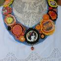 Frida virágai, Ékszer, Nyaklánc, Frida Kahlo mexikói festőnő híres volt csodálatos fejdíszeiről, ékszereiről, melyek kultúrájának erő..., Meska