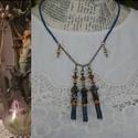 Századelő, Ékszer, Nyaklánc, A nyaklánc a múlt századelő finom, kopottas romantikáját idézi a bronz színű lánccal,   összekötő  e..., Meska