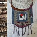 Viva Mexiko, Ékszer, Nyaklánc, A nyakék textil mintázata  hangulatában idézi a mexikói mintakincs néhány motívumát, a geometrikus d..., Meska
