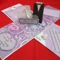 Doboz esküvőre, Naptár, képeslap, album, Képeslap, levélpapír, Papírművészet, Ezt a dobozt megrendelésre készítettem, de hasonlót egyedi rendelés alapján készítek.  Scrap techni..., Meska