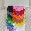 Csináld magad csomag-VIRÁG-lépésről- lépésre ( 20db), Mindenmás, Csináld magad leírások, 20 db  virág filcből  Tetszés szerint választható a szín.  mérete: 3- 4 cm elkészítve.  A s..., Meska