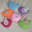 Virágos szárnyú madárkák- 6 db