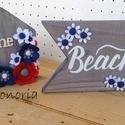 Tengerre fel!- Home-faház +beach tábla, Dekoráció, Otthon, lakberendezés, Asztaldísz, Tengerparti nyaralás...az ajtódíszem , kollekcióm darabjai.... Minden színében nyári, vidám hangulat..., Meska