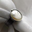 Folyami gyöngy gyűrű, Saját tervezésű egyedi kézműves alkotás.  A ...