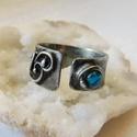 Achát gyűrű, Ékszer, Gyűrű, Szoliter gyűrű, Ékszerkészítés, Fémmegmunkálás, Saját tervezésű egyedi kézműves alkotás.  A gyűrű Tiffany technikával készült achát, réz és ólommen..., Meska