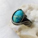 Variszcit gyűrű, Saját tervezésű egyedi kézműves alkotás.  A ...