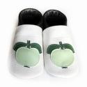 Bőr puhatalpú babacipő - Zöld almás, Baba-mama-gyerek, Ruha, divat, cipő, Gyerekruha, Baba (0-1év), Teljesen bőr babacipő, mely ideális a járni tanuló babáknak, vagy nagyobb gyermekeknek.  15-26-os mé..., Meska