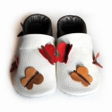 Bőr puhatalpú babacipő - Pillangós, Teljesen bőr babacipő, mely ideális a járni ta...