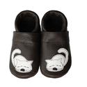 Bőr puhatalpú babacipő - Kiscicás, Baba-mama-gyerek, Ruha, divat, cipő, Gyerekruha, Baba (0-1év), Teljesen bőr babacipő, mely ideális a járni tanuló babáknak, vagy nagyobb gyermekeknek.  15-26-os mé..., Meska