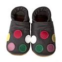 Bőr puhatalpú babacipő - Pöttyös, Baba-mama-gyerek, Ruha, divat, cipő, Gyerekruha, Baba (0-1év), Teljesen bőr babacipő, mely ideális a járni tanuló babáknak, vagy nagyobb gyermekeknek.  15-26-os mé..., Meska