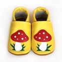 Bőr puhatalpú babacipő - Gombás , Baba-mama-gyerek, Ruha, divat, cipő, Gyerekruha, Baba (0-1év), Teljesen bőr babacipő, mely ideális a járni tanuló babáknak, vagy nagyobb gyermekeknek.  15-26-os mé..., Meska