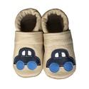 Bőr puhatalpú babacipő - Autós/Beige, Baba-mama-gyerek, Ruha, divat, cipő, Gyerekruha, Baba (0-1év), Teljesen bőr babacipő, mely ideális a járni tanuló babáknak, vagy nagyobb gyermekeknek.  15-26-os mé..., Meska