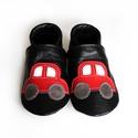Bőr puhatalpú babacipő - Autós/Fekete, Baba-mama-gyerek, Ruha, divat, cipő, Gyerekruha, Baba (0-1év), Teljesen bőr babacipő, mely ideális a járni tanuló babáknak, vagy nagyobb gyermekeknek.  15-26-os mé..., Meska