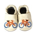 Bőr puhatalpú babacipő -Biciklis, Baba-mama-gyerek, Ruha, divat, cipő, Gyerekruha, Baba (0-1év), Teljesen bőr babacipő, mely ideális a járni tanuló babáknak, vagy nagyobb gyermekeknek.  15-26-os mé..., Meska