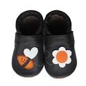 Bőr puhatalpú babacipő - Méhecskés/Sötétbarna, Baba-mama-gyerek, Ruha, divat, cipő, Cipő, papucs, Teljesen bőr babacipő, mely ideális a járni tanuló babáknak, vagy nagyobb gyermekeknek.  15-26-os mé..., Meska