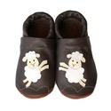 Bőr puhatalpú babacipő - Báránykás, Baba-mama-gyerek, Ruha, divat, cipő, Cipő, papucs, Teljesen bőr babacipő, mely ideális a járni tanuló babáknak, vagy nagyobb gyermekeknek.  15-26-os mé..., Meska