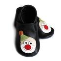 Bőr puhatalpú babacipő - Bohócos/Fekete, Baba-mama-gyerek, Ruha, divat, cipő, Cipő, papucs, Teljesen bőr babacipő, mely ideális a járni tanuló babáknak, vagy nagyobb gyermekeknek.  15-26-os mé..., Meska
