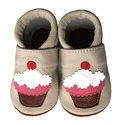 Bőr puhatalpú babacipő - Muffin/Bézs, Baba-mama-gyerek, Ruha, divat, cipő, Cipő, papucs, Teljesen bőr babacipő, mely ideális a járni tanuló babáknak, vagy nagyobb gyermekeknek.  15-26-os mé..., Meska