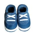 Bőr puhatalpú babacipő - Sportos/Kék, Baba-mama-gyerek, Ruha, divat, cipő, Cipő, papucs, Varrás, Teljesen bőr babacipő, mely ideális a járni tanuló babáknak, vagy nagyobb gyermekeknek.  15-26-os m..., Meska