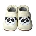 Bőr puhatalpú babacipő - Panda/Bézs, Baba-mama-gyerek, Ruha, divat, cipő, Cipő, papucs, Teljesen bőr babacipő, mely ideális a járni tanuló babáknak, vagy nagyobb gyermekeknek.  15-26-os mé..., Meska