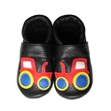 Készleten lévő bőr puhatalpú babacipő - 19-es méret - Traktoros/Fekete, Baba-mama-gyerek, Ruha, divat, cipő, Cipő, papucs, Teljesen bőr babacipő, mely ideális a járni tanuló babáknak, vagy nagyobb gyermekeknek.  ××× Azonnal..., Meska