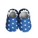 Kék fehér csillagos kocsicipő , Baba-mama-gyerek, Ruha, divat, cipő, Cipő, papucs, 16-19-es méretben rendelhetők a cipőcskék, kívül-belül pamutból készülnek, illetve a két réteg közé ..., Meska