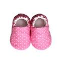 Rózsaszín/Fehér pöttyös kocsicipő, Baba-mama-gyerek, Ruha, divat, cipő, Cipő, papucs, 16-19-es méretben rendelhetők a cipőcskék, kívül-belül pamutból készülnek, illetve a két réteg közé ..., Meska