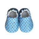 Kék/Aprómintás kocsicipő, Baba-mama-gyerek, Ruha, divat, cipő, Cipő, papucs, 16-19-es méretben rendelhetők a cipőcskék, kívül-belül pamutból készülnek, illetve a két réteg közé ..., Meska