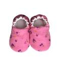 Rózsaszín/Epres-virágos kocsicipő, Baba-mama-gyerek, Ruha, divat, cipő, Cipő, papucs, 16-19-es méretben rendelhetők a cipőcskék, kívül-belül pamutból készülnek, illetve a két réteg közé ..., Meska