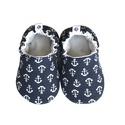 Horgonyos kocsicipő, Baba-mama-gyerek, Ruha, divat, cipő, Cipő, papucs, 16-19-es méretben rendelhetők a cipőcskék, kívül-belül pamutból készülnek, illetve a két réteg közé ..., Meska
