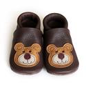 Készleten lévő bőr puhatalpú babcipő - 22-es méret - Macis, Baba-mama-gyerek, Ruha, divat, cipő, Cipő, papucs,  Teljesen bőr babacipő, mely ideális a járni tanuló babáknak, vagy nagyobb gyermekeknek.  ××..., Meska