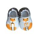Rókás - Hordozós pamutcipő , Baba-mama-gyerek, Ruha, divat, cipő, Cipő, papucs, 16-19-es méretben rendelhetők a cipőcskék, kívül-belül pamutból készülnek, illetve a két réteg közé ..., Meska