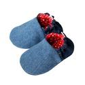 Hordozós - Farmer babacipő, Baba-mama-gyerek, Ruha, divat, cipő, Cipő, papucs, 16-19-es méretben rendelhetők a cipőcskék, kívül farmerből,belül pedig pamutból készülnek, illetve a..., Meska