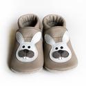 Bőr puhatalpú babacipő - Nyuszi, Baba-mama-gyerek, Ruha, divat, cipő, Gyerekruha, Baba (0-1év), Teljesen bőr babacipő, mely ideális a járni tanuló babáknak, vagy nagyobb gyermekeknek.  15-26-os mé..., Meska