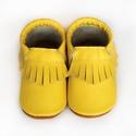 Bőr mokaszin - Citromsárga, Baba-mama-gyerek, Ruha, divat, cipő, Gyerekruha, Baba (0-1év), Teljesen bőr babacipő, mely ideális a járni tanuló babáknak, vagy nagyobb gyermekeknek.  15-26-os mé..., Meska