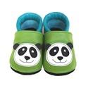 Bőr puhatalpú babacipő - Panda II., Baba-mama-gyerek, Ruha, divat, cipő, Cipő, papucs, Varrás, Teljesen bőr babacipő, mely ideális a járni tanuló babáknak, vagy nagyobb gyermekeknek.  15-26-os m..., Meska