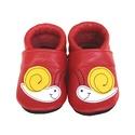 Bőr puhatalpú babacipő - Csigás/Piros, Baba-mama-gyerek, Ruha, divat, cipő, Cipő, papucs, Teljesen bőr babacipő, mely ideális a járni tanuló babáknak, vagy nagyobb gyermekeknek.  15-26-os mé..., Meska