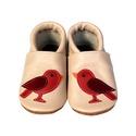 Bőr puhatalpú babacipő - Madárkás, Baba-mama-gyerek, Ruha, divat, cipő, Cipő, papucs, Teljesen bőr babacipő, mely ideális a járni tanuló babáknak, vagy nagyobb gyermekeknek.  15-26-os mé..., Meska