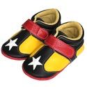 Bőr puhatalpú Sportcipő - Sárga/Fekete, Baba-mama-gyerek, Ruha, divat, cipő, Cipő, papucs, Megérkezett a  puhatalpú Hopphopp cipőcskék új generációja!  Miért nevezhetjük teljesen új generáció..., Meska
