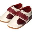 Bőr puhatalpú Sportcipő - bézs/bordó, Baba-mama-gyerek, Ruha, divat, cipő, Cipő, papucs, Megérkezett a  puhatalpú Hopphopp cipőcskék új generációja!  Miért nevezhetjük teljesen új generáció..., Meska