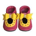 Bőr puhatalpú szandál - Nagy masnis - 20-as méret, Baba-mama-gyerek, Ruha, divat, cipő, Cipő, papucs, Készleten lévő, azonnal elvihető!!!  A puhatalpú cipő 20-as méretű, belső talphossza 129mm!  A boka ..., Meska