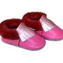 Szőrmés mokaszin - Pink - 21-es méret, Baba-mama-gyerek, Ruha, divat, cipő, Cipő, papucs, Készleten lévő, azonnal elvihető!!!  A puhatalpú cipő 21-es méretű, belső talphossza 136mm!  Műszőrm..., Meska